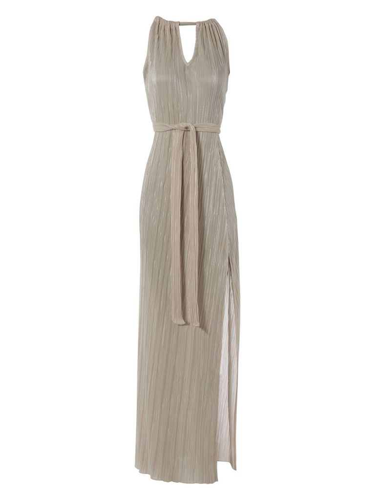 Jane Norman Pleated maxi dress, Silver