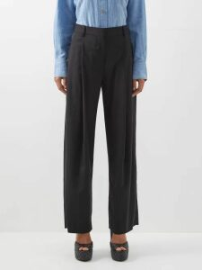 Miu Miu - Rosette Silk-taffeta Shirt - Womens - Light Pink