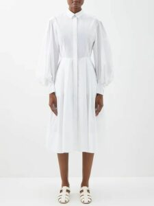 Golden Goose - Golden Mid-rise Tailored Cotton-twill Trousers - Womens - Khaki