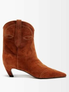 Emme Parsons - Susan Wrap-around Suede Sandals - Womens - Tan