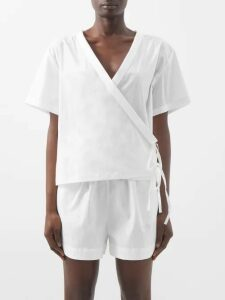 F.r.s - For Restless Sleepers - Pussy-bow Crepe Blouse - Womens - Cream