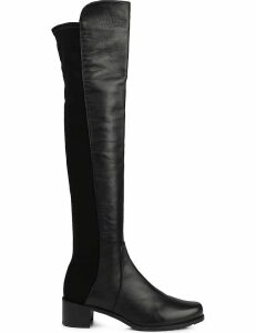 Stuart Weitzman Ladies Black Modern Reserve Stretch-Back Leather Boots, Size: EUR 37 / 4 UK WOMEN