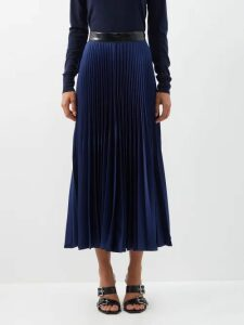 Blazé Milano - Diva Metallic High-rise Silk-blend Trousers - Womens - Pink Multi