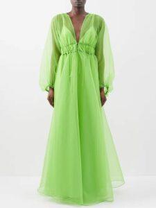 Emilia Wickstead - Giovanna Boat-print Dress - Womens - Pink Print