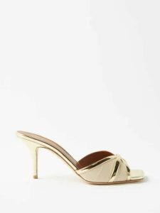 Alessandra Rich - Tropical Print Crystal Embellished Cotton Dress - Womens - Blue Multi