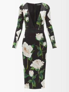 Mm6 Maison Margiela - Slogan-print High-rise Jeans - Womens - Denim
