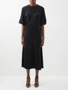 Three Graces London - The Honeymoon Scoop Neck Silk Maxi Dress - Womens - Navy