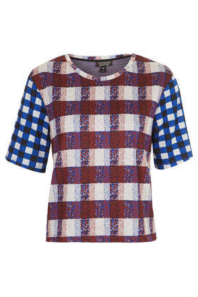 Mixed Check Jacquard Tee
