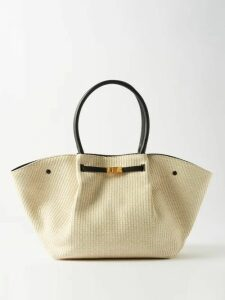 Jil Sander - Striped Ribbed Knit Cotton Sweater - Womens - Blue Multi