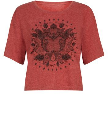 Red Lotus Flower T-Shirt