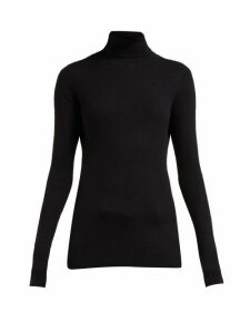 Raey - Roll-neck Fine-rib Cashmere Sweater - Womens - Black