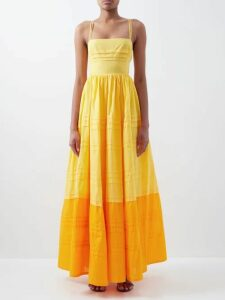 Chimala - Peach Single-breasted Cotton-twill Trench Coat - Womens - Camel