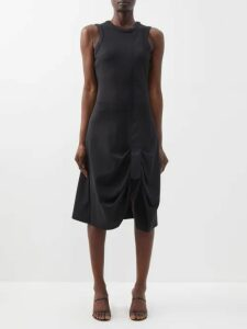 Raf Simons - Oversized One-shoulder Striped Sweater - Womens - Beige Multi
