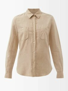 Palmer//harding - Alexandria Striped Cotton Blend Kaftan - Womens - Navy Stripe