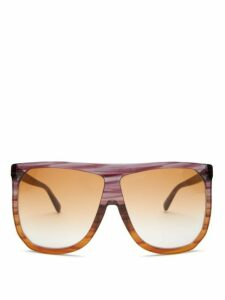 Loewe - Filipa Flat-top Acetate Sunglasses - Womens - Brown