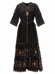 Norma Kamali - Tiered Fringe Stretch Jersey Pencil Skirt - Womens - Green