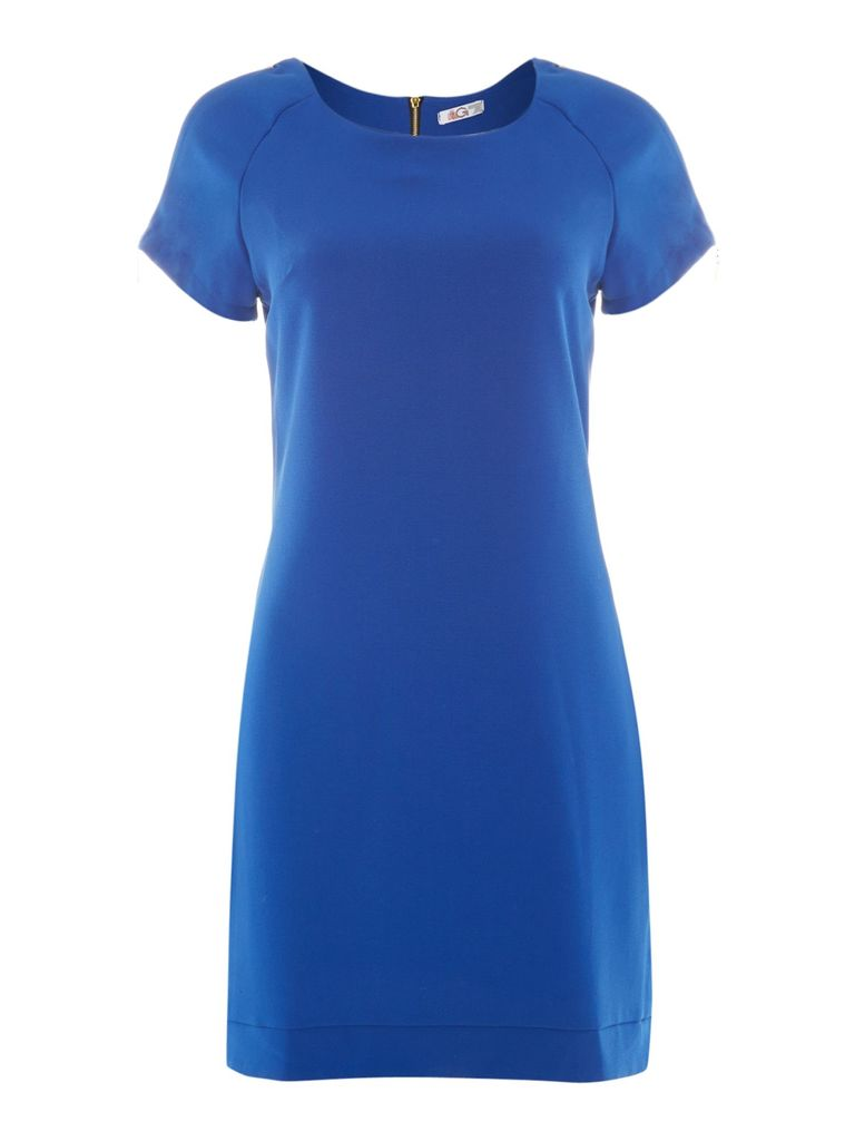 Wal-G Zip detail tunic dress, Blue