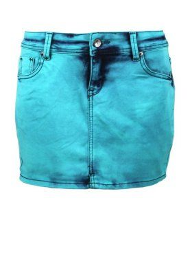 Sublevel Denim skirt turquoise