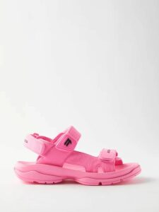 Valentino - Ruffled-cuff Wool-blend Sweater - Womens - Pink