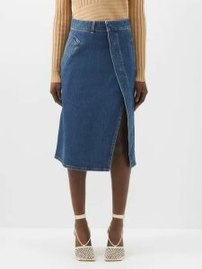 Valentino - Fluted-sleeve Round-neck Sweater - Womens - Black White