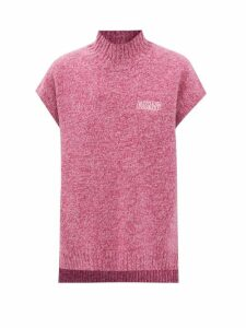 Norma Kamali - Tiered Fringe Stretch Jersey Crop Top - Womens - Pink