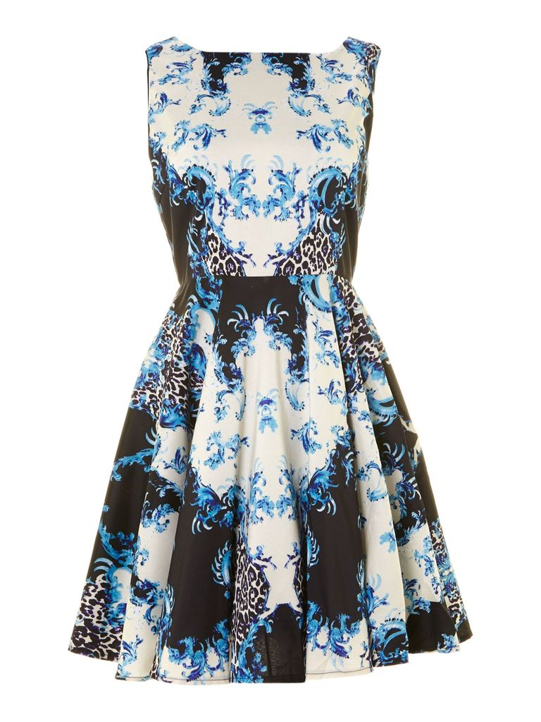 True Decadence Plain jane prom dress, Blue Print
