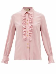 Zimmermann - Tie Neck Silk Satin Midi Dress - Womens - Brown