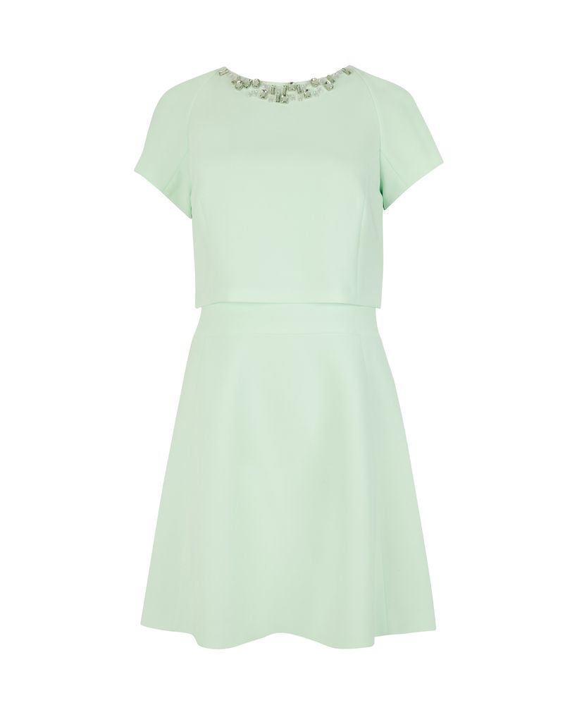 Ted Baker Foppar embellished dress, Green