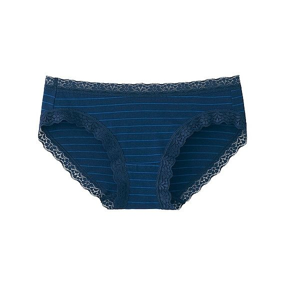 Uniqlo WOMEN Briefs (Stripe) 69 NAVY