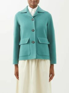 Miu Miu - Logo-patch Technical-knit Polo Shirt - Womens - Burgundy
