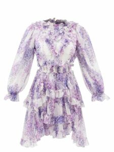 Johanna Ortiz - Persian Opulence Cotton-blend Poplin Midi Dress - Womens - Green