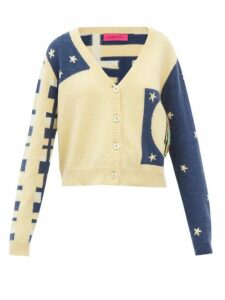 Norma Kamali - Tiered-fringe Stretch-jersey Pencil Skirt - Womens - Blue