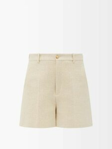 Dolce & Gabbana - Lily-print Pussy-bow Silk-crepe Blouse - Womens - Pink Multi