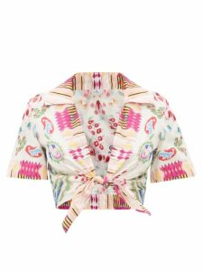 Valentino - Go Logo Print Flared Hem Wool Blend Dress - Womens - Black White