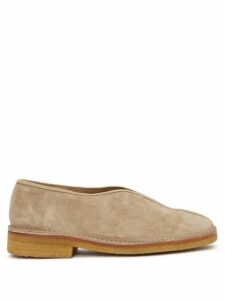 Marques'almeida - Ostrich Feather-trim Cotton Cardigan - Womens - Red