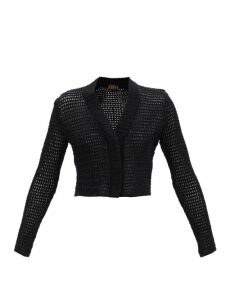 Dolce & Gabbana - Lily-print Lace-trim Silk-charmeuse Cami Top - Womens - Pink Multi