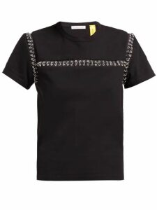 6 Moncler Noir Kei Ninomiya - Chain Seams Cotton T-shirt - Womens - Black