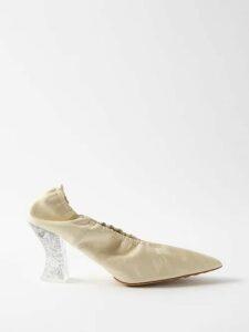 Rochas - High-rise Floral-brocade Maxi Skirt - Womens - Blue Multi