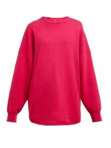 Extreme Cashmere - No. 53 Crew Hop Stretch-cashmere Sweater - Womens - Dark Pink