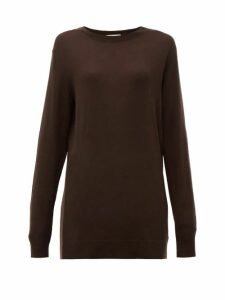 Bottega Veneta - Fine-gauge Cashmere Sweater - Womens - Dark Brown