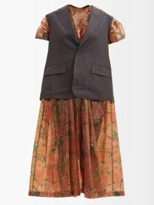 Hvn - Paula Car-print Silk Mini Dress - Womens - Light Pink