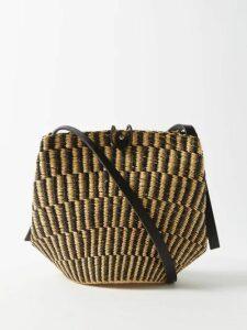 Sea - Monet High-neck Floral-print Ramie Top - Womens - Dark Pink