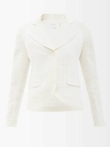 Sea - Patch-pocket Cotton-blend Midi Skirt - Womens - Khaki