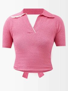 Givenchy - Logo Embroidered Cotton Poplin Shirt - Womens - Light Blue