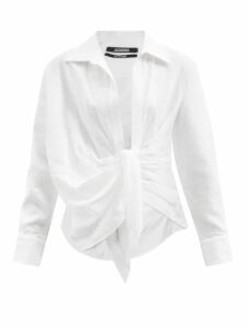Bottega Veneta - Oversized Cotton Chambray Shirt - Womens - Blue