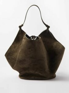 Gucci - Ribbon Trimmed Embroidered Tweed Dress - Womens - Black
