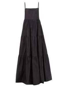 Anaak - Clara Colour-block Silk Dress - Womens - Blue Multi
