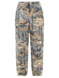 The Upside - Marine Camouflage-print Cotton Tank Top - Womens - Blue Print