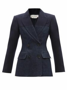 Lemaire - Lace-up Cotton-poplin Shirt - Womens - Navy