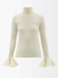 Marques'almeida - Ring-detail Raw-hem Cotton Shirt - Womens - White